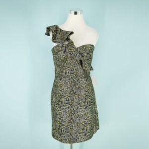 Monique Lhuillier 16 Metallic Jacquard Dress NWT